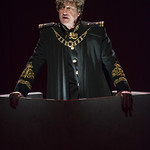 Thomas Vincent Kelly (Mark Antony) in JULIUS CAESAR at Writers Theatre. Photo by Michael Brosilow.