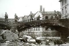 Masevaux- pont Mairie endommagé avec vue sur Tannals, photo DR origine Thierry Frey - Copyright Antoine Ehret