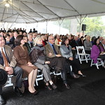 Attendees hear remarks from officials during the ceremonial groundbreaking event.  Photo by Abby McKenna.
