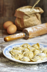 Russian traditional pelmeni with meat. photo by lilechka75