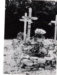 45-  29 juin 45- BM 2- Cimetière de Retaud - Tombe de Michel Malhaire - Fonds Amiel
