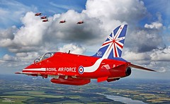 RAF Red Arrows photo by Defence Images