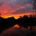 Beautiful sunset on a dull Autumnal Sunday