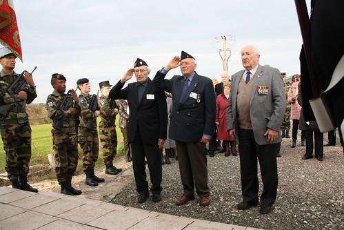 Andornay- 20 novembre 2014 - Commémoration- 20 novembre 2014 -Dépôt de gerbes au cimetière d'Andornay par la délégation ADFL - Alain Banach