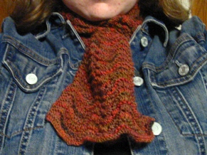 Red Fall Scarf