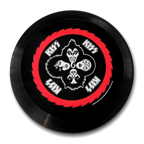 Rock band KISS frisbee
