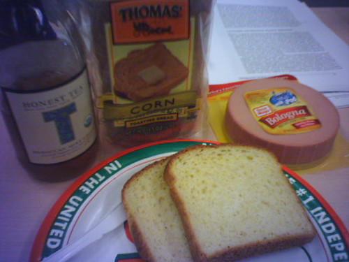 Lunch: Corn bread w/ Bologna