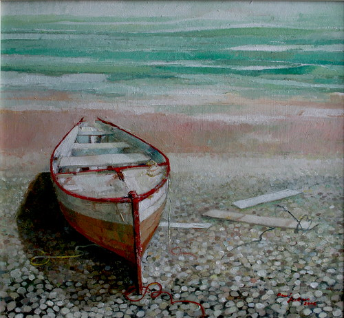 Boat (Oil on Board)