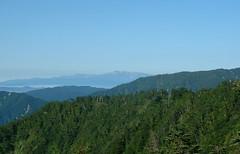 立山カルデラ展望台から見る白山