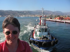 0416 Mary and tugboat at Ensenada