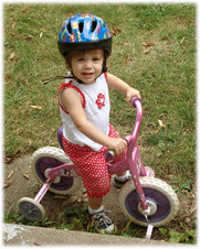Isabel on Bike