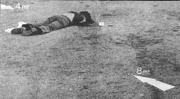 El cadaver de Pasolini