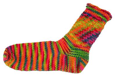 LynnH Sock knit from Socks that Rock Yarn