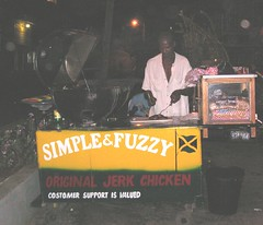 negril jamaica jerk chicken stand streetfood