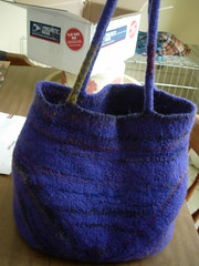A felted bag designed just for little old me
