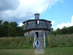 Eddie at Fort Edgecomb Blockhouse