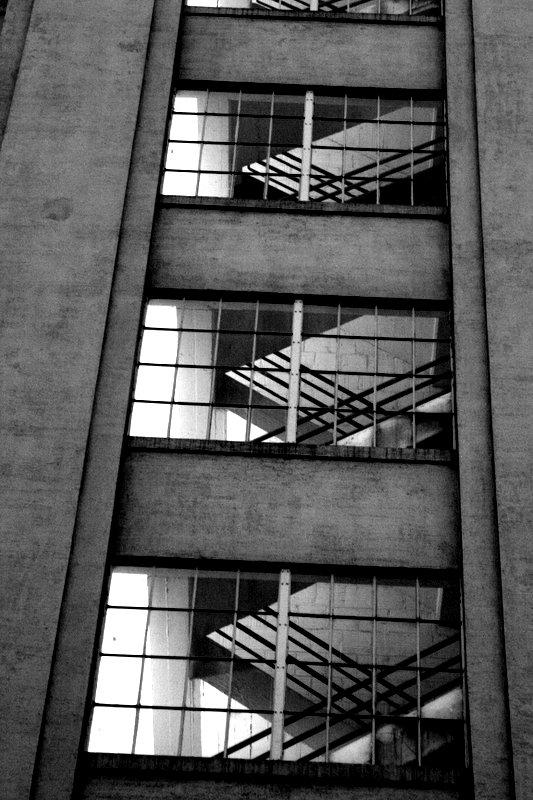 Stairwell in Northwest Portland