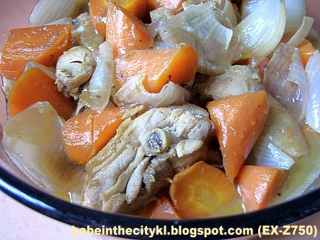 braised chicken wid carrot n onion