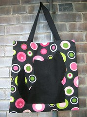 kitty tote; black