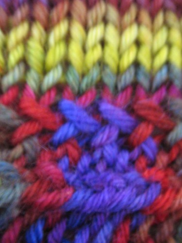 Detail of the picked up stitches