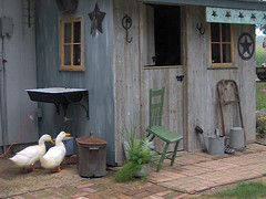 Potting Shed and Ducks