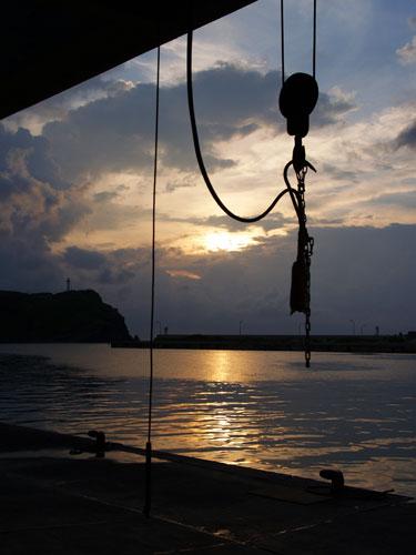 日本最西端の夕焼け