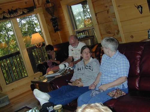 Knitting at the Lodge
