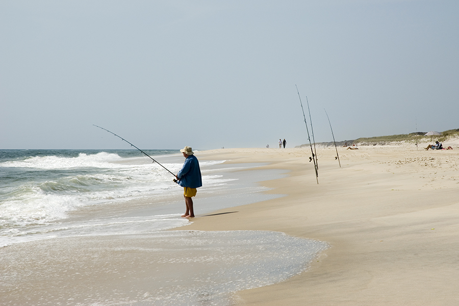 surf fishing at Davis Park