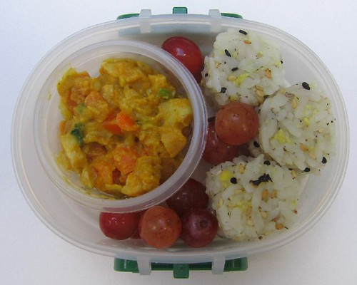 Kid's korma curry, chili bento