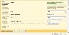 Google calendar options - SMS a Perú