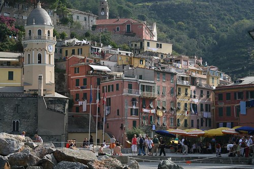 Vernazza, already crowded
