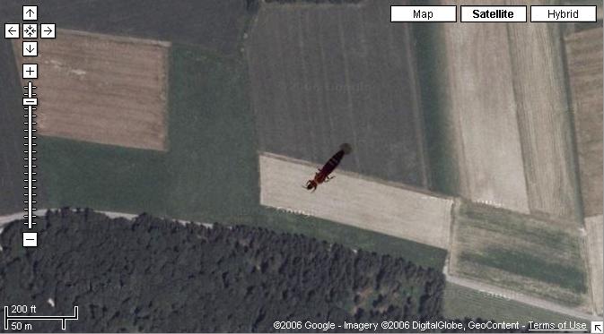 Aliens bei Google Maps