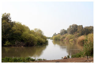 The Jordan River upstream of Galilee