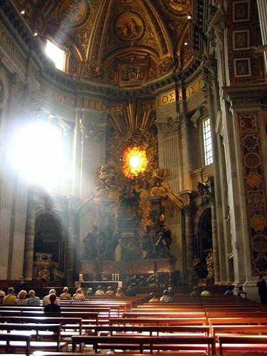 St. Peter's Throne and Sunburst Window1