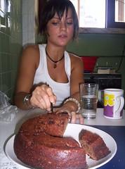 Preparazione del bolo de chocolate