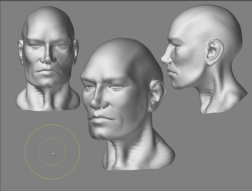 Heads, 30 minute sketches in zbrush