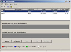 defrag, disk defrag, window xp defragmentation, disk defragmenter