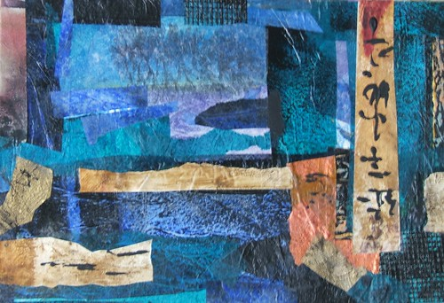 Collage Abstract Artists Abstract Art Collage in Blue