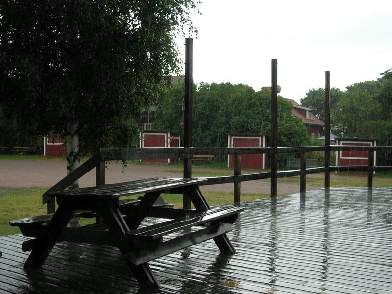 雨中的避难地
