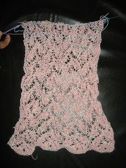 Lace Scarf WIP