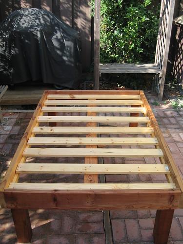 assembled bench