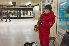 Music — Saxophone Player photo by michaelTO