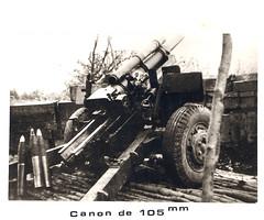 1945 - RA - canon de 105 -Livre d'or archives mairie Herbsheim