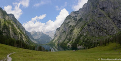Panorama landscape of Lake Obersee in the Berchtesgaden National Park photo by timohannukkala