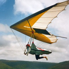 Hang gliding young mum photo by velton