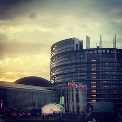 The European Parliament in Strasbourg is getting ready to receive Pope Francis