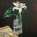 Silk and Promises, Oil on Linen, 40x40cm