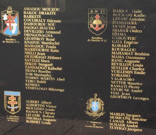 Andornay- commémoration 2014 - stèle DFL  au cimetière d'Andornay