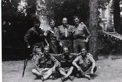 66 - 1945-65- 1945 - BM 2- Hopital de Sainte - s Lt VALLI et Lt MUFFRAGI (compagnon de la Libération)  - Fonds Amiel