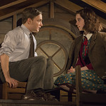 Antonio Zhiurinskas (Peter) and Sophie Thatcher (Anne Frank) in THE DIARY OF ANNE FRANK at Writers Theatre. Photo by Michael Brosilow.